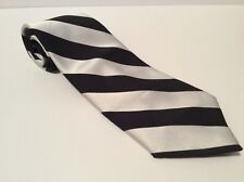Black And White Striped Tie * No Tag * Great Design For Outfit Or Costume