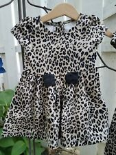 3T GYMBOREE Animal Print Cheetah Leopard Fall Bow Dress