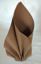 Duni Napkins 50 Disposable Dunilin Chestnut Luxury Linen Look and Feel