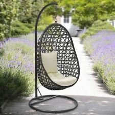 Cocoon Hanging Chair With Cushion Lawn Patio Swing Summer Garden Seat Hammoc