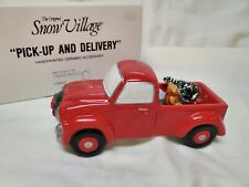 Snow Village Pick Up and Delivery Truck