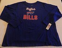 Buffalo Bills Long Sleeve T-shirt Ladies 3XL Scoop Neck Blue Womens NFL