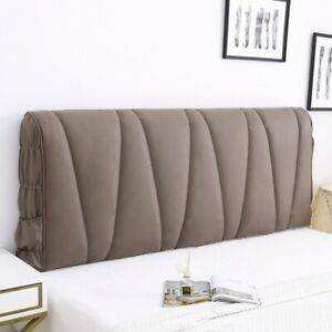 Bed Headboard Slipcover Dustproof Bedhead Cover Elastic Soft Leather Protector