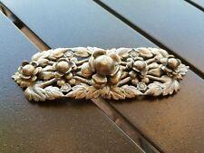vintage antique 2 piece metal belt buckle-ornate  design flowers and leaves