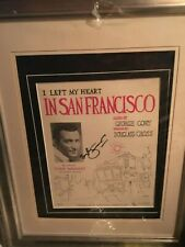tony bennet autographed  SIGNED left my heart in san francisco poster