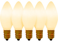C-7 WHITE SOLID STEADY LIGHT BULBS CHRISTMAS BRAND NEW 1 BOX OF 25 C7 OPAQUE