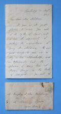 1848 MSS SIGNED EDWARD EVERETT GETTYSBURG ADDRESS LINCOLN HARVARD CONGRESS WAR