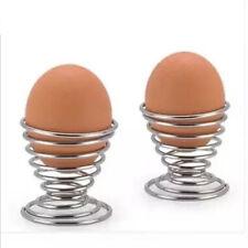 Metal Egg Cup Spiral Kitchen Breakfast Hard Boiled Spring Holder Egg Cup