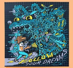 "Killer Acid ""Follow your Dreams"" Blotter Art signed and numbered perforated art"