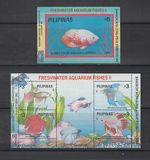 Philippine Stamps 1993 Aquarium Fishes Ovpt Bangkok World Philatelic Exhibit ss