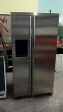 side by side kühlschrank in edelstahl optik