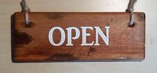 OPEN/CLOSED (double sided) - distressed sign / rustic /retro