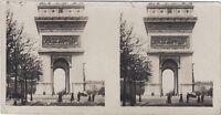 Parigi Arco Di Triomphe Da L Stella Foto Stereo Vintage Analogica
