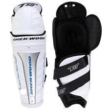 "Sherwood T50 ice hockey senior size shin guards 17"" white black new knee pads sr"