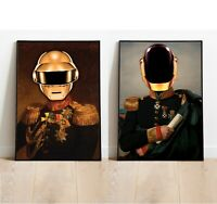 Pair of Daft Punk Inspired Prints, Daft Punk Posters, FREE UK DELIVERY