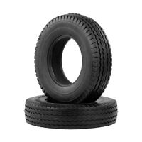 High quality 2PCS Rubber Tires for 1:14 Tamiya Tractor RC Trailer Truck HOT A0G1