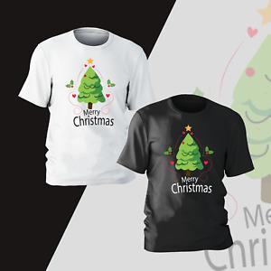 Merry Christmas Tree Gift Xmas T-Shirt Funny Present Gift Kids Mens Unisex T