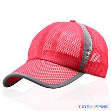 Womens Mens Summer Golf Baseball Cap Sport Mesh Curved Visor Sun Hats Snapback