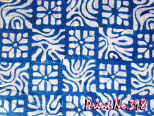 10 Yard Indian Design Natural Dyed Cotton Hand Block Printed Crafting Fabric A+