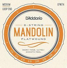 D'addario Efw74 11-36 - Muta di Corde Flatwound medie per Mandolino colore Bro