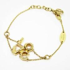 Love Gold M62844 F/S Japan Auth Louis Vuitton Bracelet Lv&Me