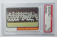 1974 Topps #541 Cleveland Team Card PSA 7 NM