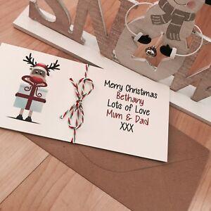 Personalised vintage/Retro Christmas Money/Gift Voucher Wallet Reindeer Present