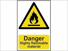Scan - Danger Highly Flammable Material - PVC 200 x 300mm