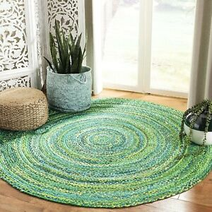 Rug 100% Natural Cotton reversible handmade rug modern living rustic look rug