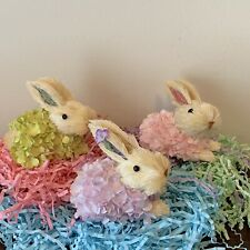 Ashland Easter Sisal Animals Bunnies, Rabbits lot of 3 New