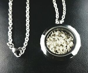 6g Pure Silver Crystal Pendant Necklace 999+ Fine fractional bullion