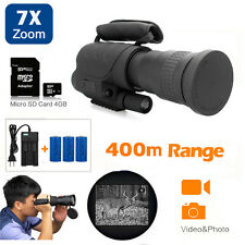Rongland Handheld IR Night Vision Monocular Hunting Telescopes 7x60+3x Batteries