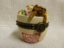 Boyds Bear Dandy Candy W/ Sweettooth McNibble Treasure Box 82021 NIB