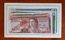 GIBRALTAR Specimen set £1 to £20 Pounds (1976) UNC.