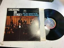 The George Shearing Quintet On Stage mono Capitol T1187 Vinyl LP Record orig !