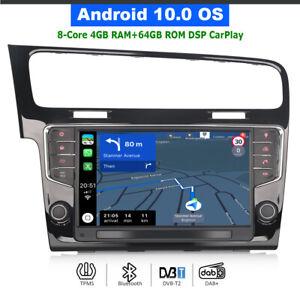 "9"" Android 10.0 DAB+Autoradio Bluetooth GPS SatNav CarPlay für VW Golf Mk7 (LHD)"