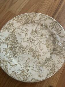 Caspari 10.5 in Dinner Plates Holiday Toile 4311DP Pamela Gladding - 8 Plates