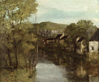Reflection of Ornans Gustave Courbet Wall Decoration Print on Canvas Small 8x10