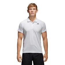 Adidas D2M Polo TG. L Bianco Climalite BK2594 Tennis Allenamento Nuovo