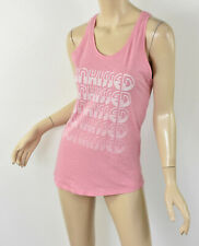 NWT JUNK FOOD Rose Pink SUNKISSED Graphic Print Jersey Racerback Tank Top M