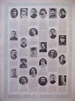 TABLEAU D'HONNEUR 4 PLANCHES N°381 au N°384 DES VICTIMES DE GUERRE 1914/1918