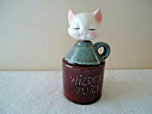 "Vintage "" Wildcat Juice "" Cat Head Themed Jug "" GREAT RARE COLLECTIBLE ITEM """