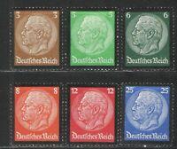 Germany - Third Reich 1934 Sc# 436-441 MH VG/F - Hindenburg Memorial set