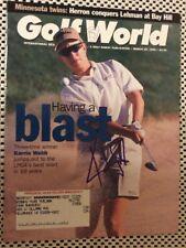 LPGA Karrie Webb Signed Golf World Magazine