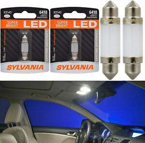 Sylvania ZEVO LED Light 6418 White 6000K Two Bulbs Interior Dome Replacement OE