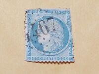 france 1849 ..25 centime stamp light blue on blue