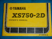 1977 77 YAMAHA XS750-2 XS 750 SHOP SERVICE REPAIR MANUAL