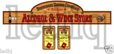 Sticker set  WINE STORE #2  western cowboys for playmobil