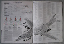 Warplane magazine Issue 115 Rockwell B-1B Cutaway drawing & Poster