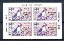 GB LOCAL ISLE OF JETHOU  1 BLOCK  IMPERF -EUROPA 1961 -  **  MNH VF PUFFIN   @2